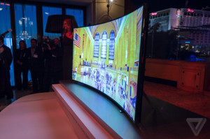 Samsung's 105 in. curved TV (Image credit: TheVerge.com)