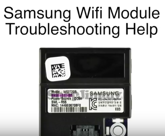Bad Wifi Module In Samsung Smart Tv Causing Wifi Connection Problems